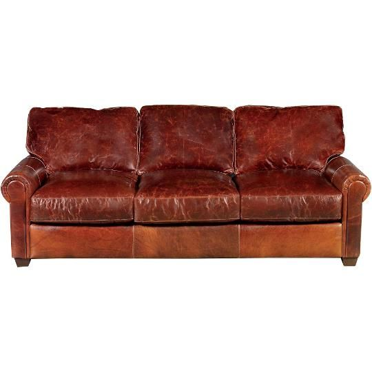 43868002BROMPTONSO 89  Brown Leather Sofa