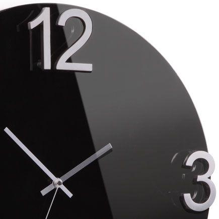 Umbra Elapse Black Wall Clock High Gloss 55