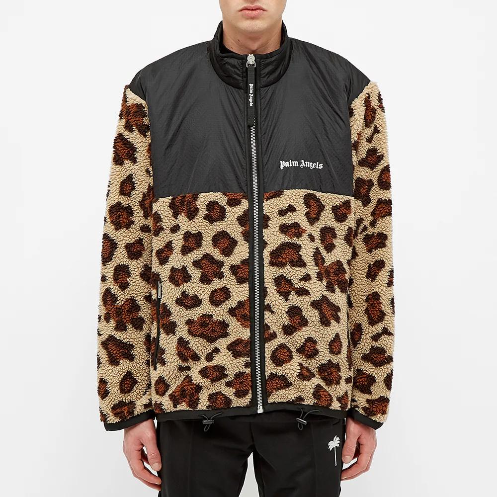 Palm Angels Animal Sherpa Fleece Jacket Fleece Jacket Retail Fashion Jackets [ 1000 x 1000 Pixel ]