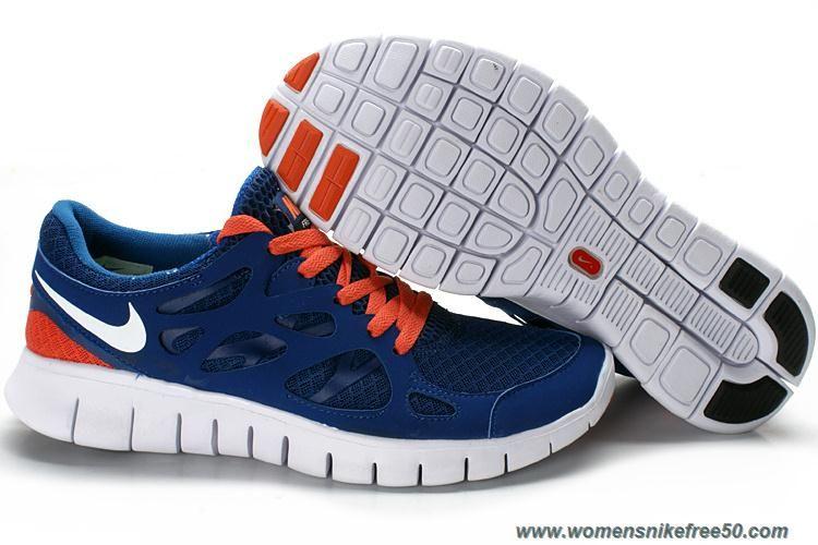 buy online 2022f 9ed2f New Mens Nike Free Run 2 443815-009 Blue White Orange