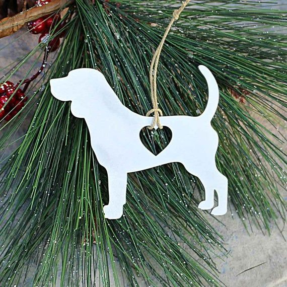 Beagle Metal Ornament Holiday Gift Party Favors Christmas