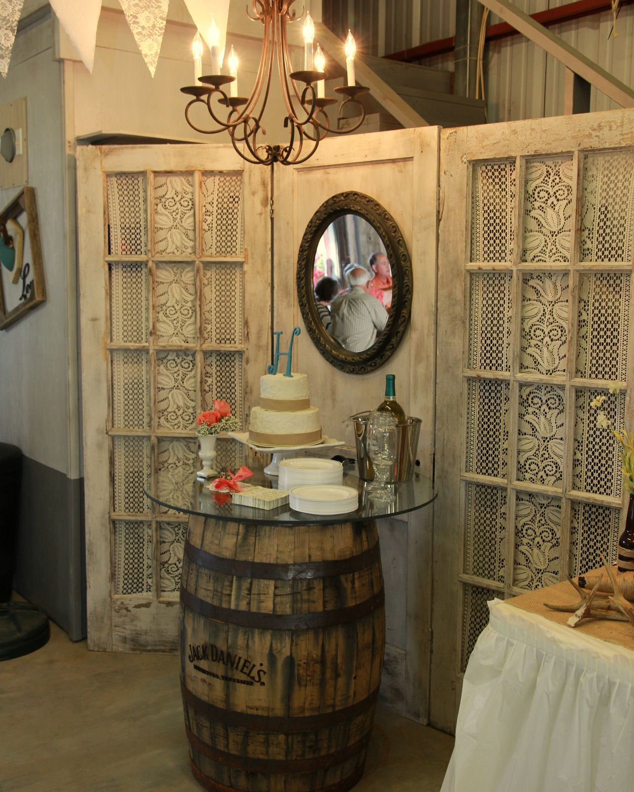 Wedding Cake Backdrop: Wedding Cake On A Whiskey Barrel! What More Can You Ask
