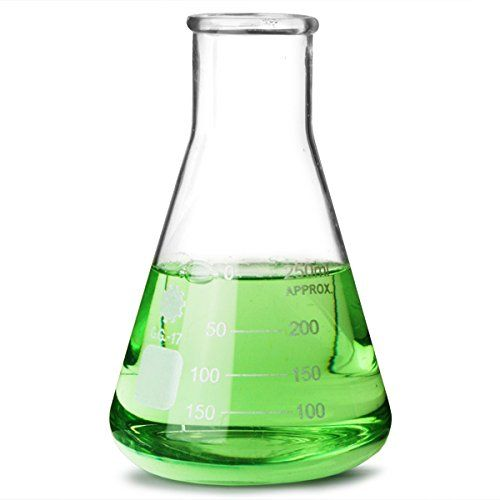 glass conical flask 250ml | measuring flask, molecular flask, erlenmeyer  flask, chemistry flask: amazon co uk: kitchen & home