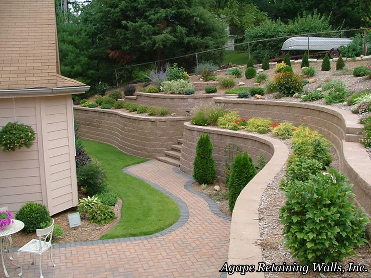 Garden Retaining Wall Design Custom Inspiration Design