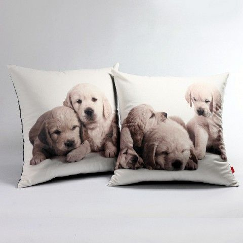 3d Golden Retriever Baby Pillows For Couch Digital Printing Dog