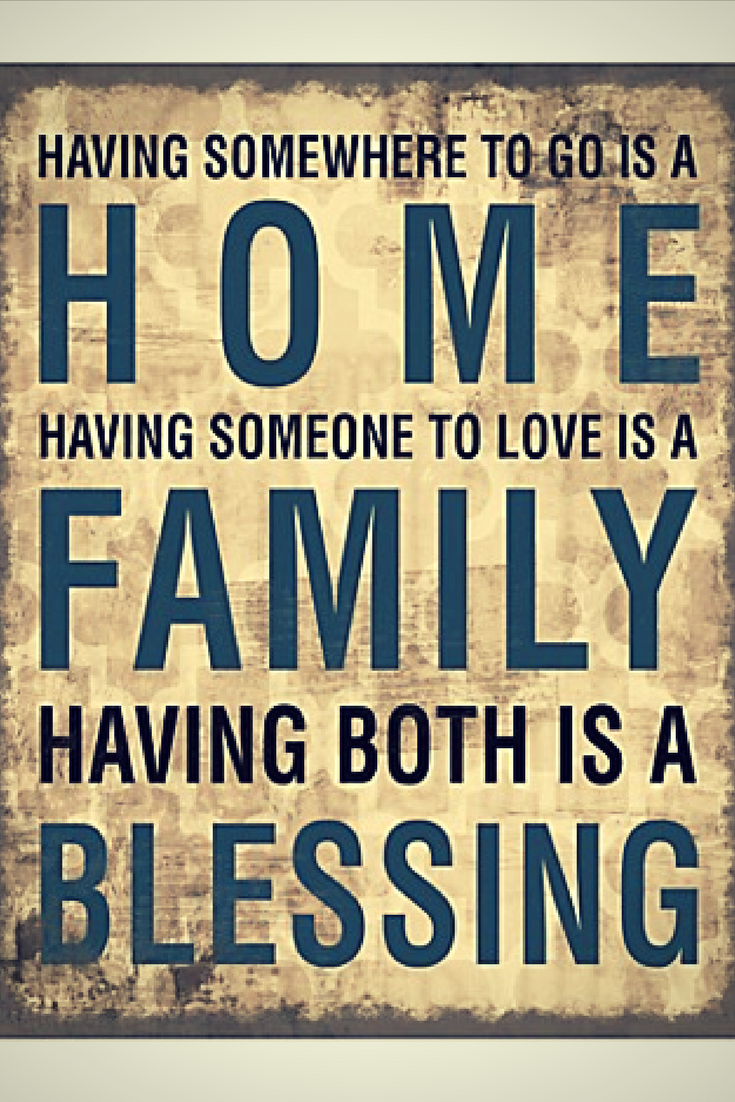 Family Home Blessing Canvas Wall Art offers a word of encouragement ...