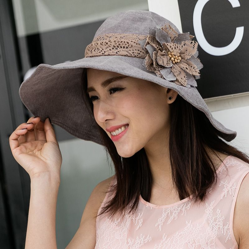 ea213c6f627 Summer Beach Hats For Women Chapeu Panama Feminino Lady Bucket Hat  sombreros mujer verano Anti UV