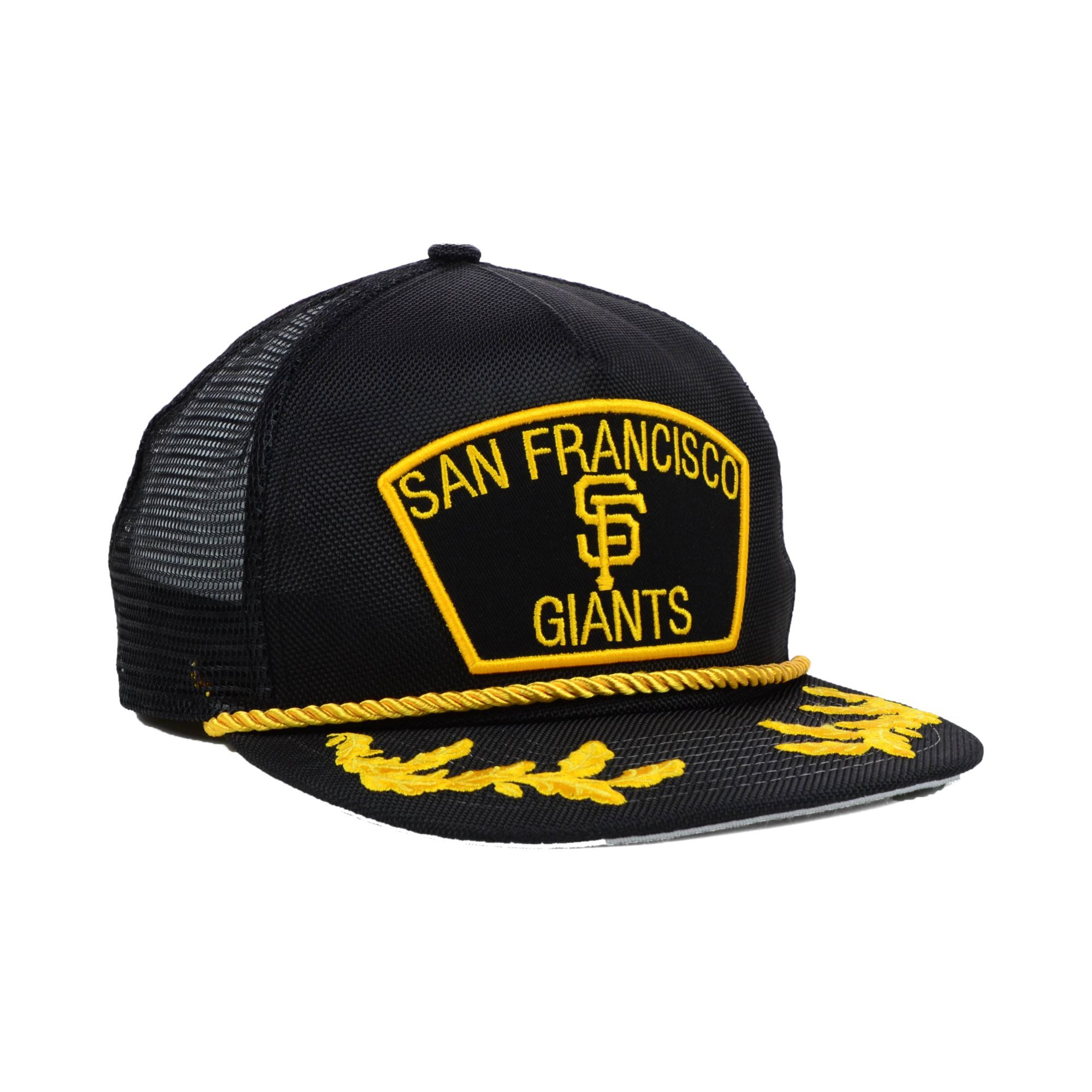03f53b32746 Men s Black San Francisco Giants Mlb 9fifty Snapback Cap