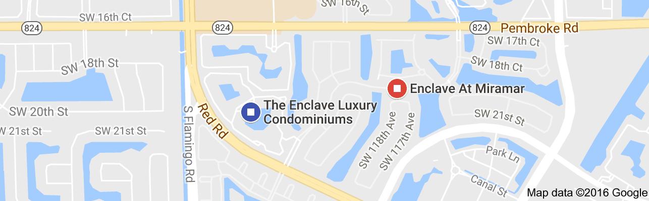 Map Of Miramar Florida.Map Of The Enclave Luxury Condominiums Miramar Fl South Florida