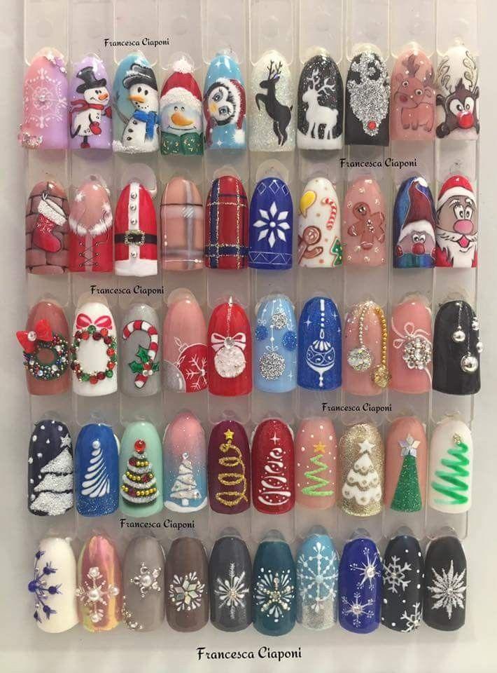 Navidad | Nails - Christmas | Pinterest | Nägel, Nagellack kunst und ...