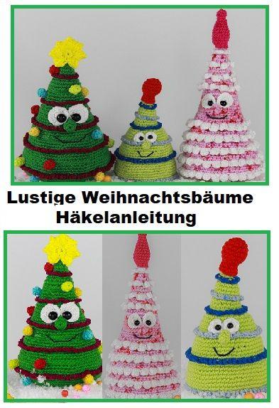 Weihnachtsbaum häkeln // Deko-Tannenbaum | 574x393