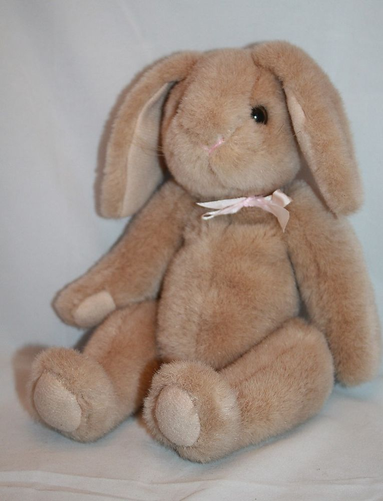 Ty Plush Bunny Rabbit Jointed Brown Tan Vtg 10 Quot Stuffed