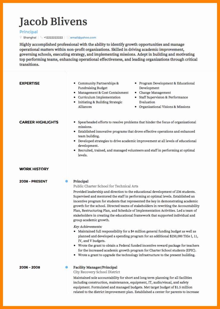 Resume Template for Educators Beautiful 9 Cv Patterns for