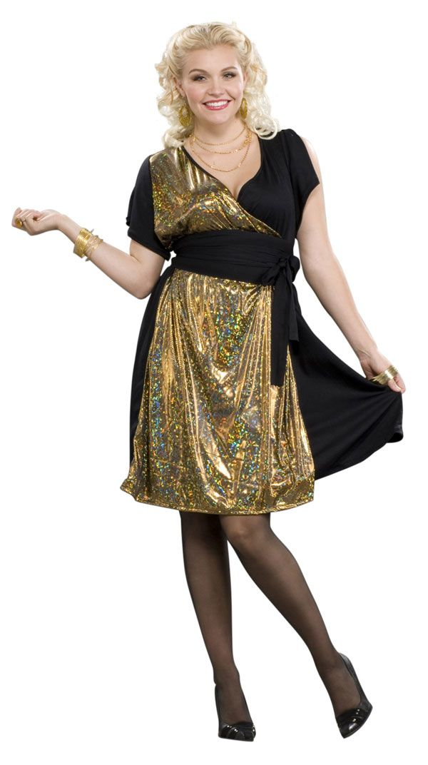 Plus size 70s dress up