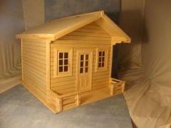 dh529 large chalet avec des b tonnets en bois pinterest b ton de glace batonnet et. Black Bedroom Furniture Sets. Home Design Ideas