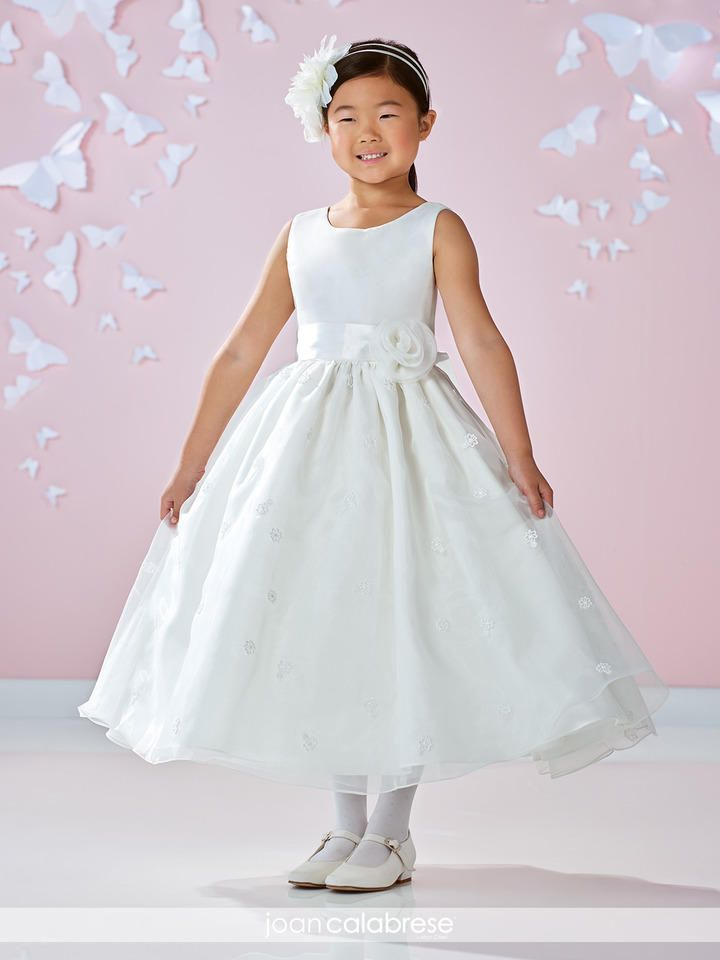 0b20426a1414 Size 2 Ivory Joan Calabrese 117358 Flower Girls Lace Organza Dress ...
