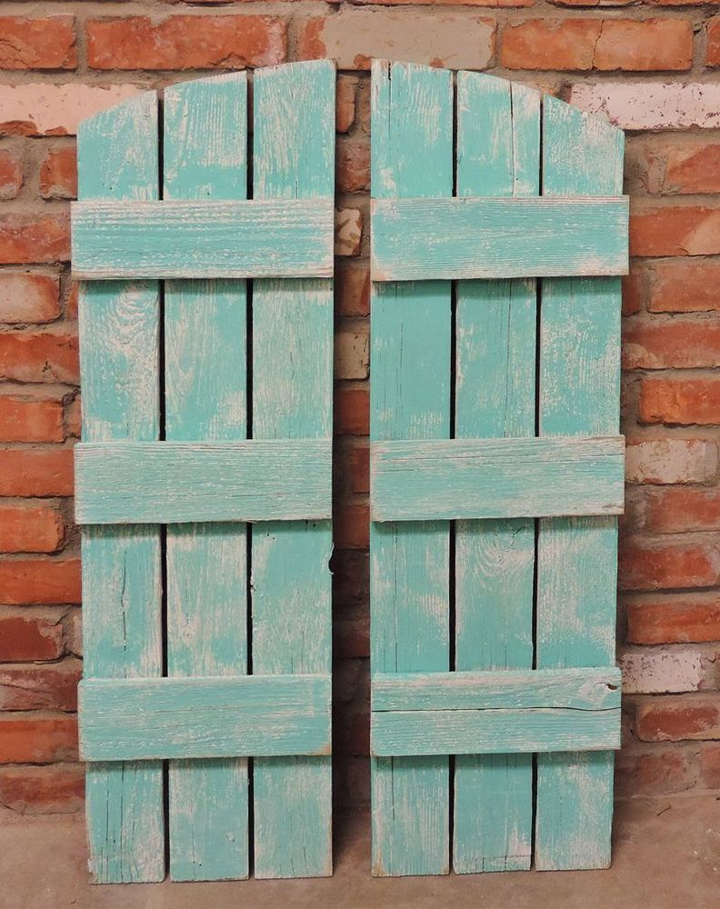 New rusitc barnwood shutters for 9 pane arched farmhouse window ...