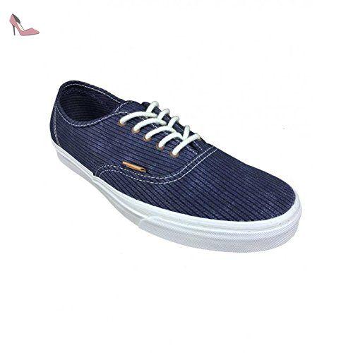 Vans U AUTHENTIC SLIM (WASHED) QUIET - zapatilla deportiva de lona unisex, color gris, talla 36.5 EU (6.5 Erwachsene UK)