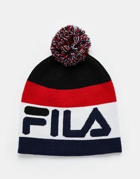 Fila - Bonnet avec pompon   - vêtement - en 2019   Casquette ... fd5c008ebab