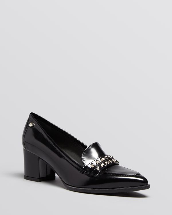 Stuart Weitzman Pointed Toe Loafer Pumps - Keepit High Heel
