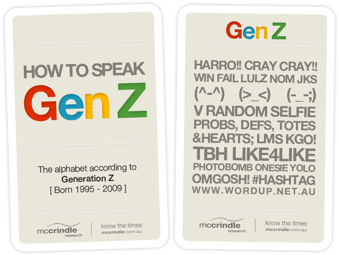 We Are In The Midst Of A Generational Landmark As The First Of Australia S Digital Generation Z Generation Slang Language