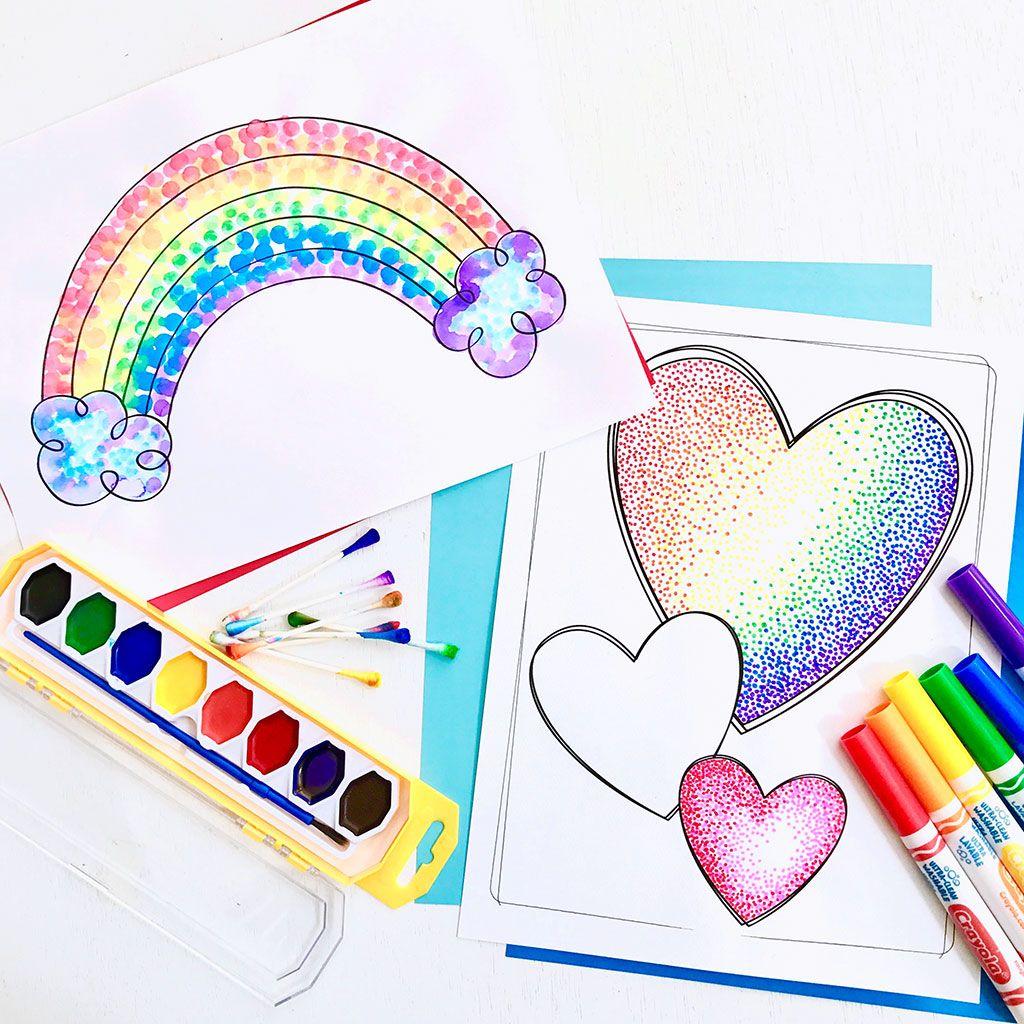Easy Pointillism for Kids Pointillism, Art activities