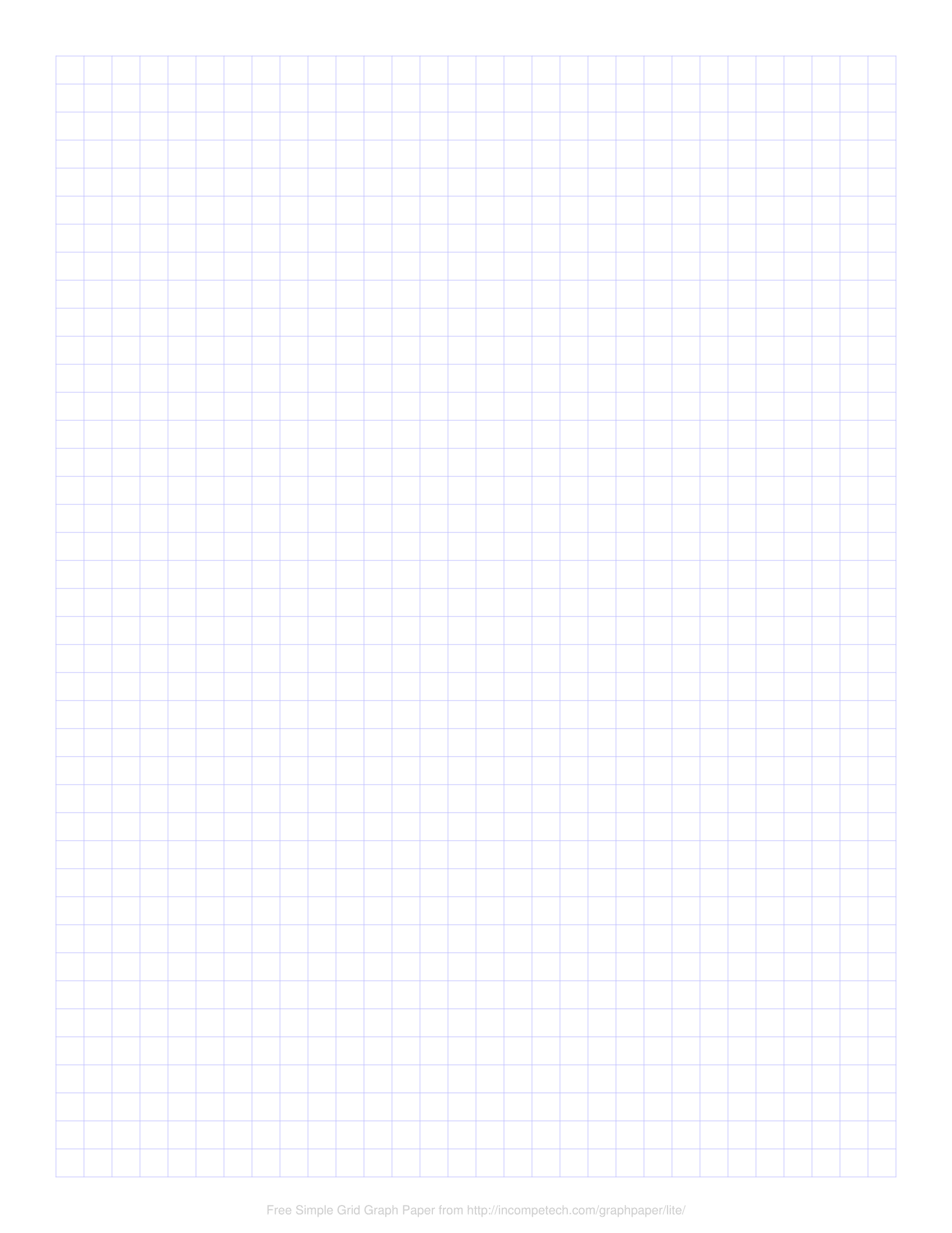 Free Online Graph Paper Simple Grid In