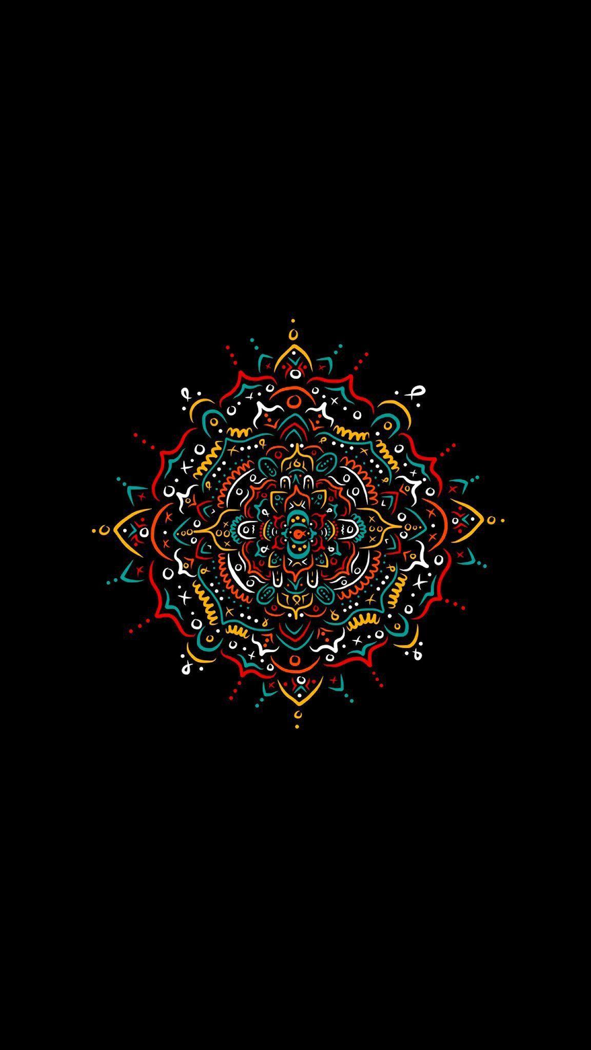 Pin By M On Colour Full B W Mandala Wallpaper Art Wallpaper Iphone Dark Wallpaper