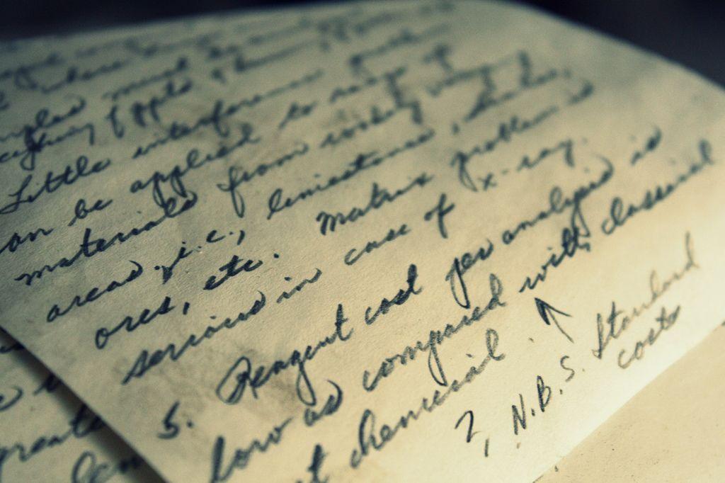 letter writtin