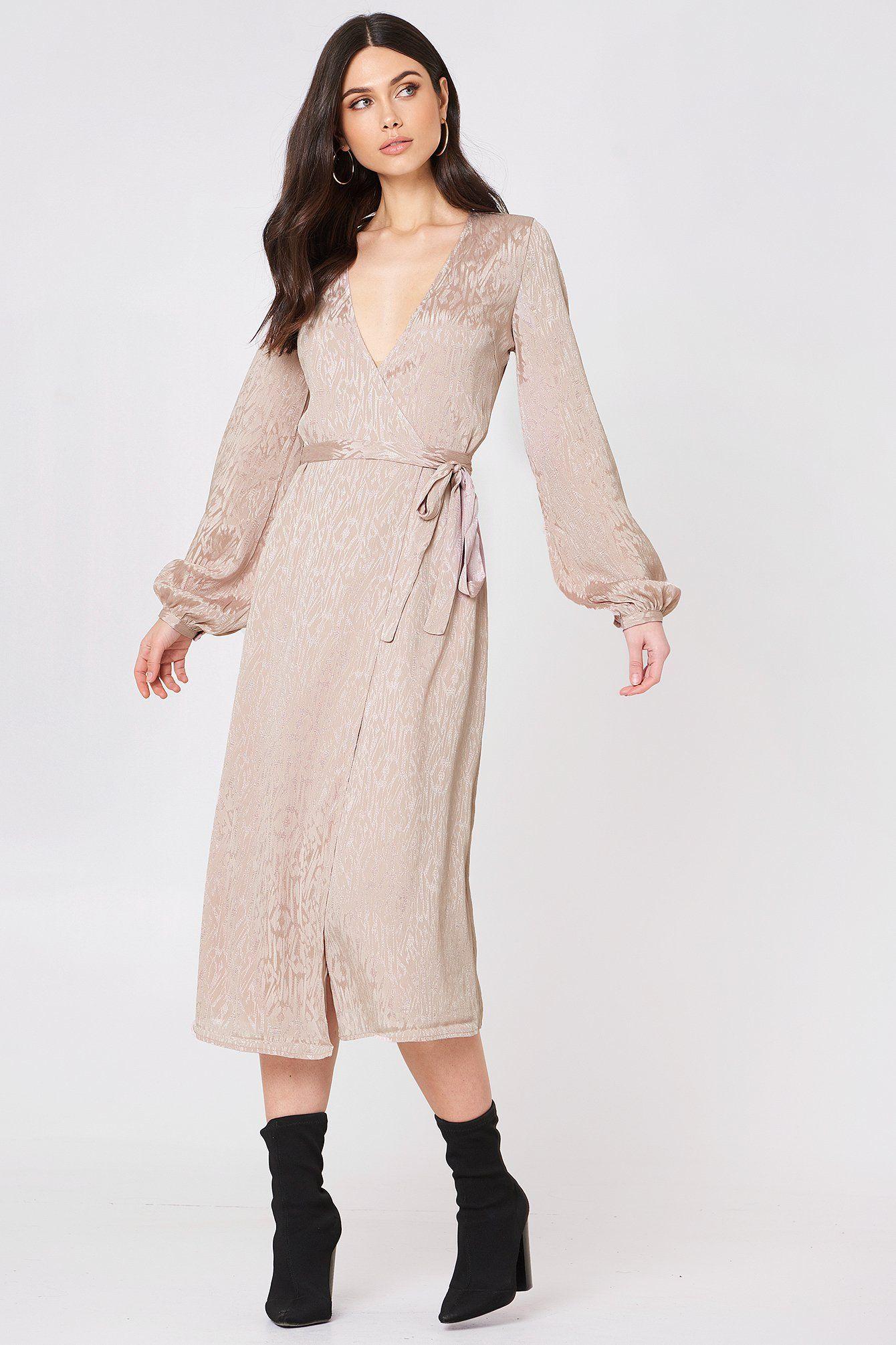 09396546 GESTUZ CETE WRAP DRESS - PINK. #gestuz #cloth # | Gestuz | Dresses ...