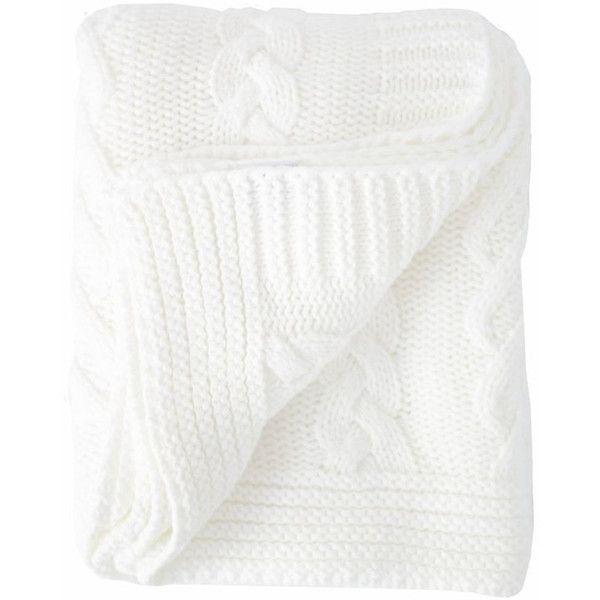 Cable Knit Throw in White design by Turkish-T (1,665 EGP) ❤ liked on Polyvore featuring home, bed & bath, bedding, blankets, throws & blankets, white throw blanket, white cable knit blanket, white cable knit throw, cable knit throw blanket and white blanket