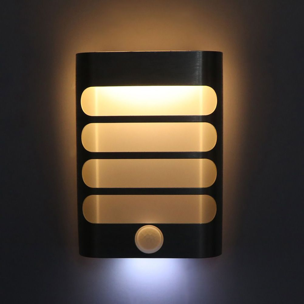 Wireless Led Pir Motion Sensor Activated Night Light Battery Powered Doorway Bedroom Wall Motion Activated Nigh Sensor Night Lights Night Light Led Wall Lights