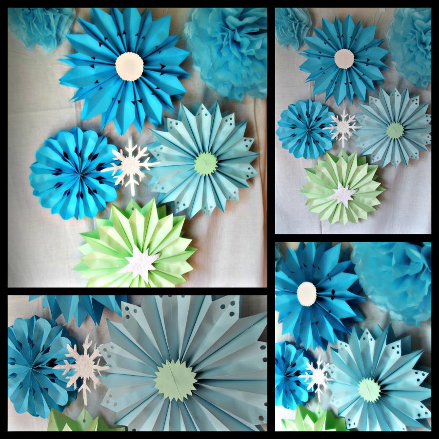 Rosetones de papel paso a paso decoracion navide a for Decoracion primavera manualidades