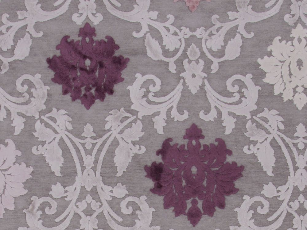 Rectangle Area Rug Wind Chime Border Wild Dove Gray Purple Machine Made