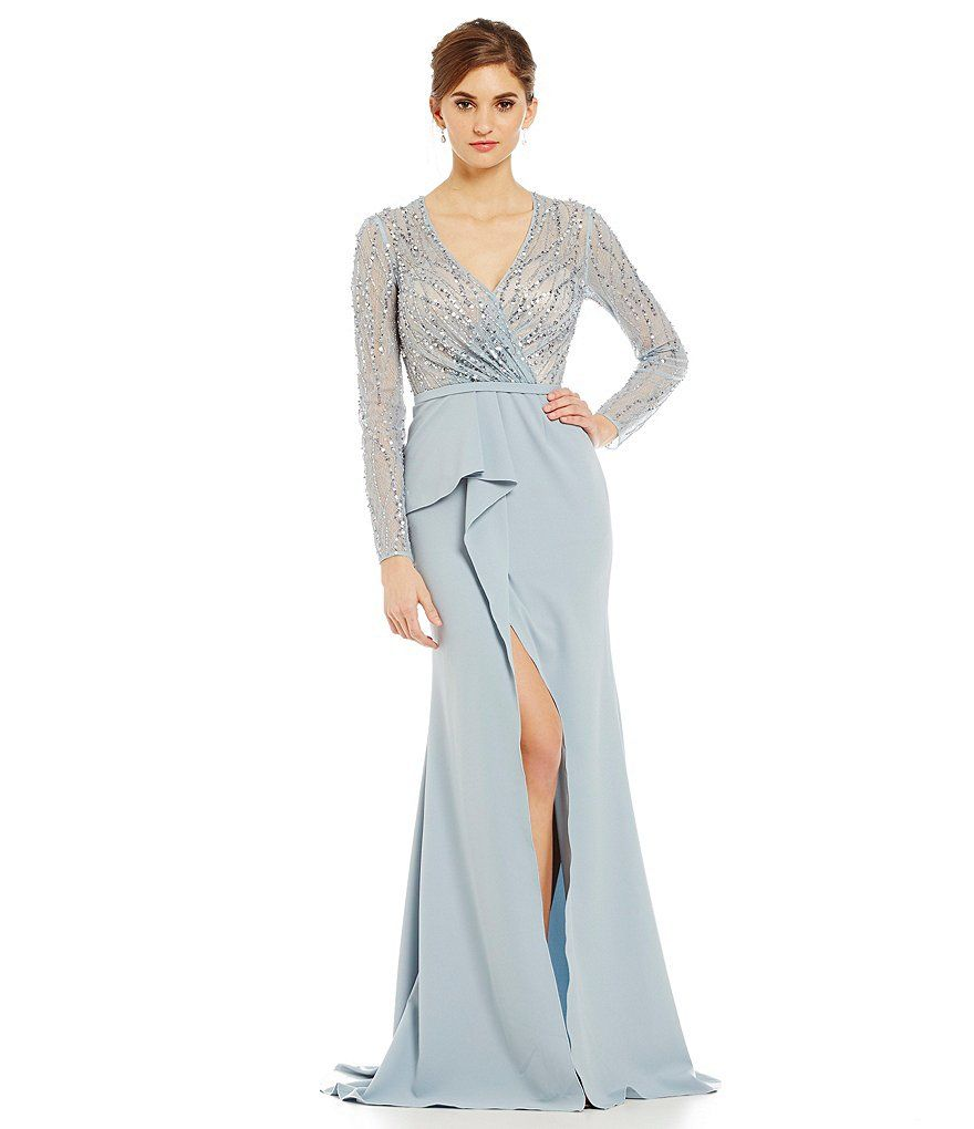 Terani Couture Faux-Wrap Beaded Gown | ○ •۰♤ Wish List ♤۰ ...