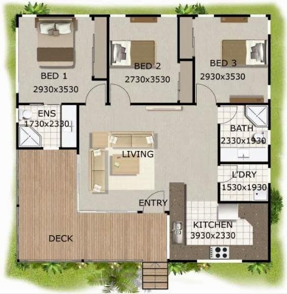 Resultado de imagen de casas 1 planta dise os casa una for Disenos de casas pequenas de una planta