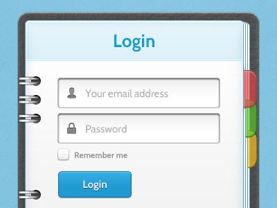 Login Screen - Day Planner | Web Design & UX | Day planners