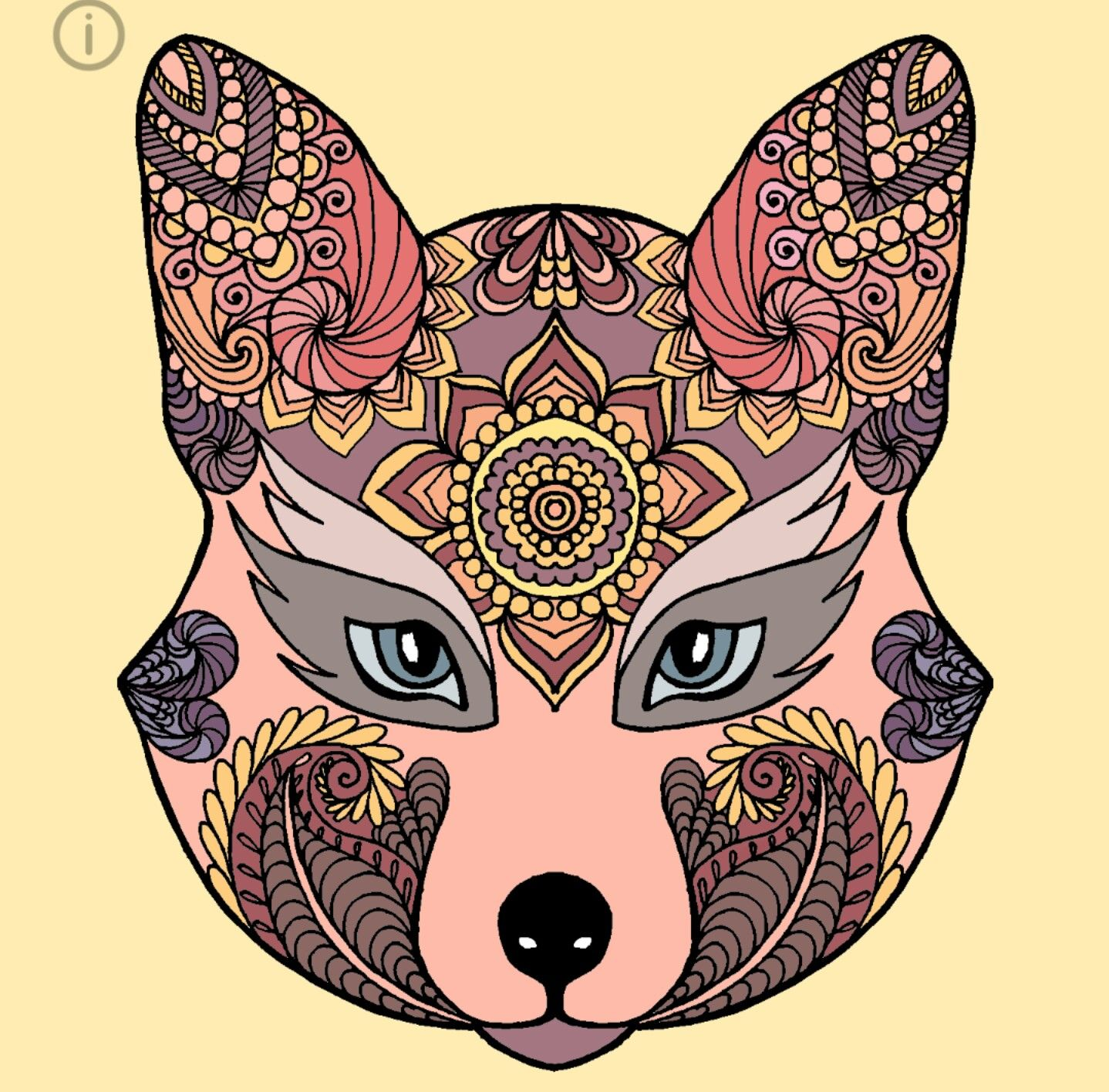 #beautiful #wolf #coloring #art #byme | Art, Color, Galaxy ...