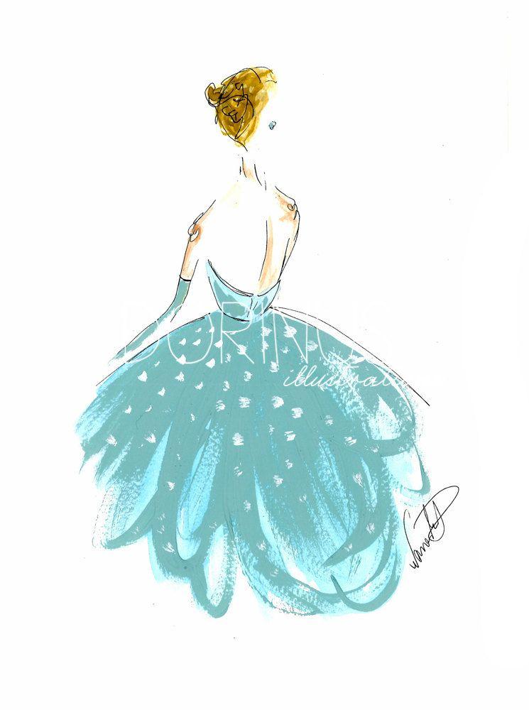 Fashion illustration Fashion painting by DorinusIllustrations