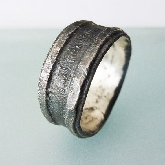 blackened sterling silver s ring ring for