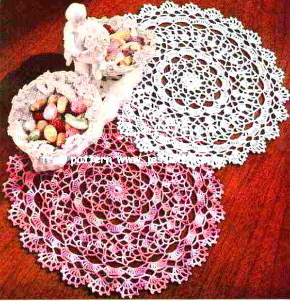 Shaded Pink and Lavender Doily free pattern | Doilies | Pinterest ...