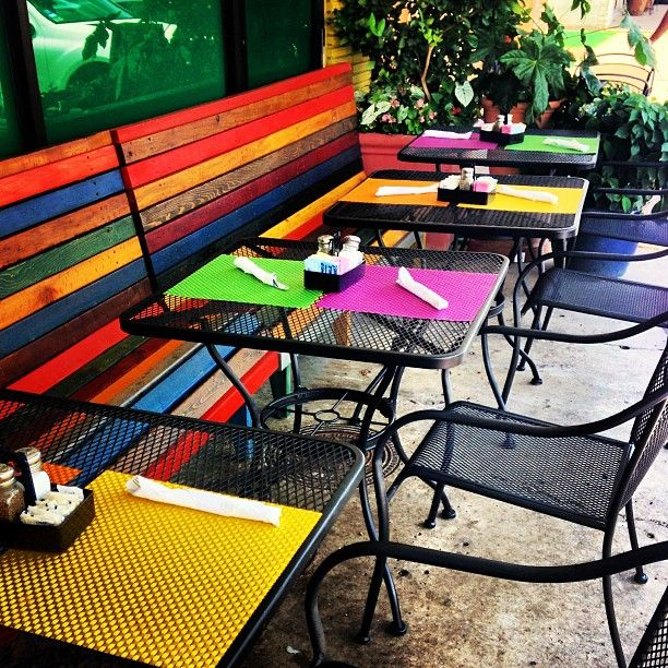 #color #colorful #dallas #exterior #foodie #lunch #mexicanfood #summer  #storefront #happy #patio #restaurant #rafas | Flickr   Photo Sharing!