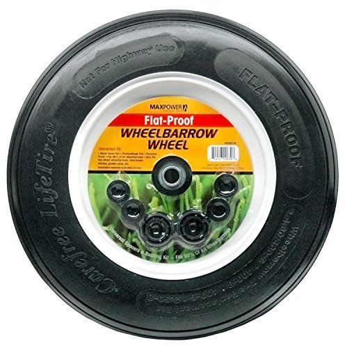 Max Power 335270 No Flat Ribbed Wheelbarrow Wheel Learn More By Visiting The Image Link Wheelbarrow Wheels Wheelbarrow Tires Wheelbarrow