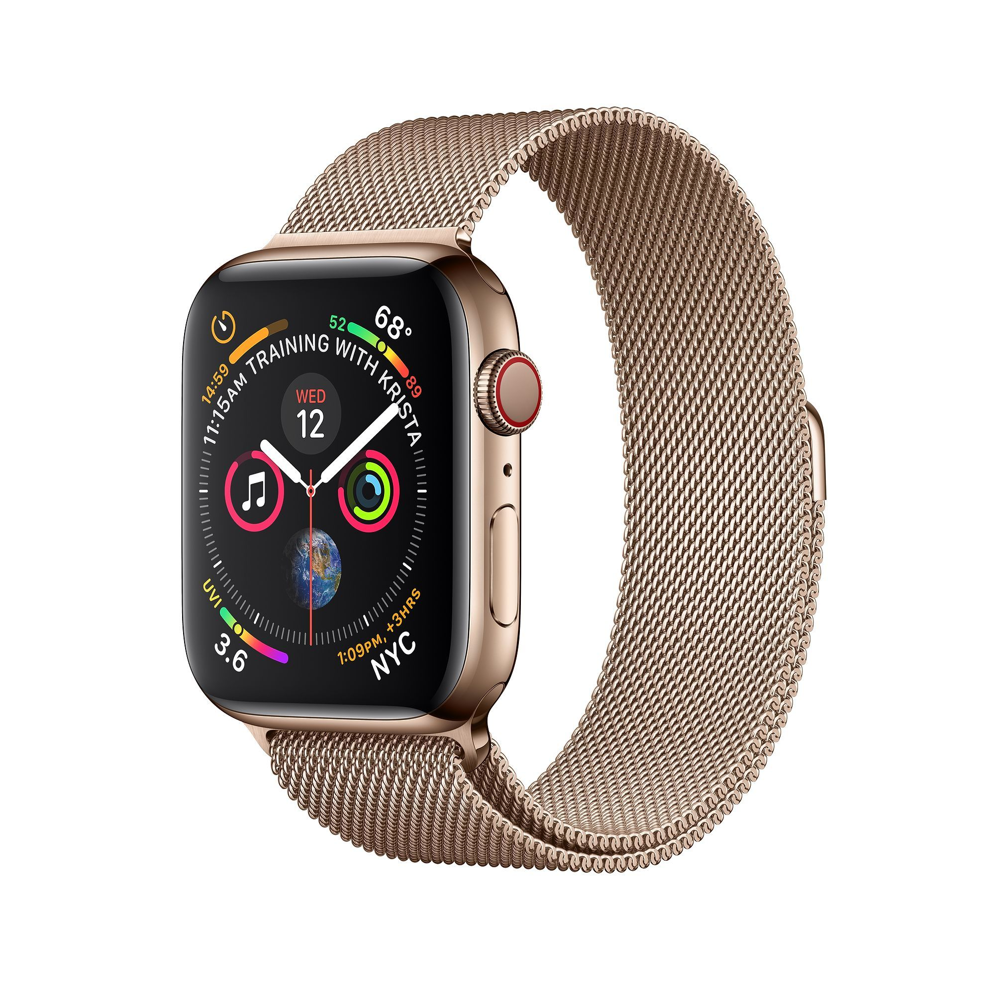 6ad143c5a5e Apple Watch - Gold Stainless Steel Case with Gold Milanese Loop - Education  - Apple