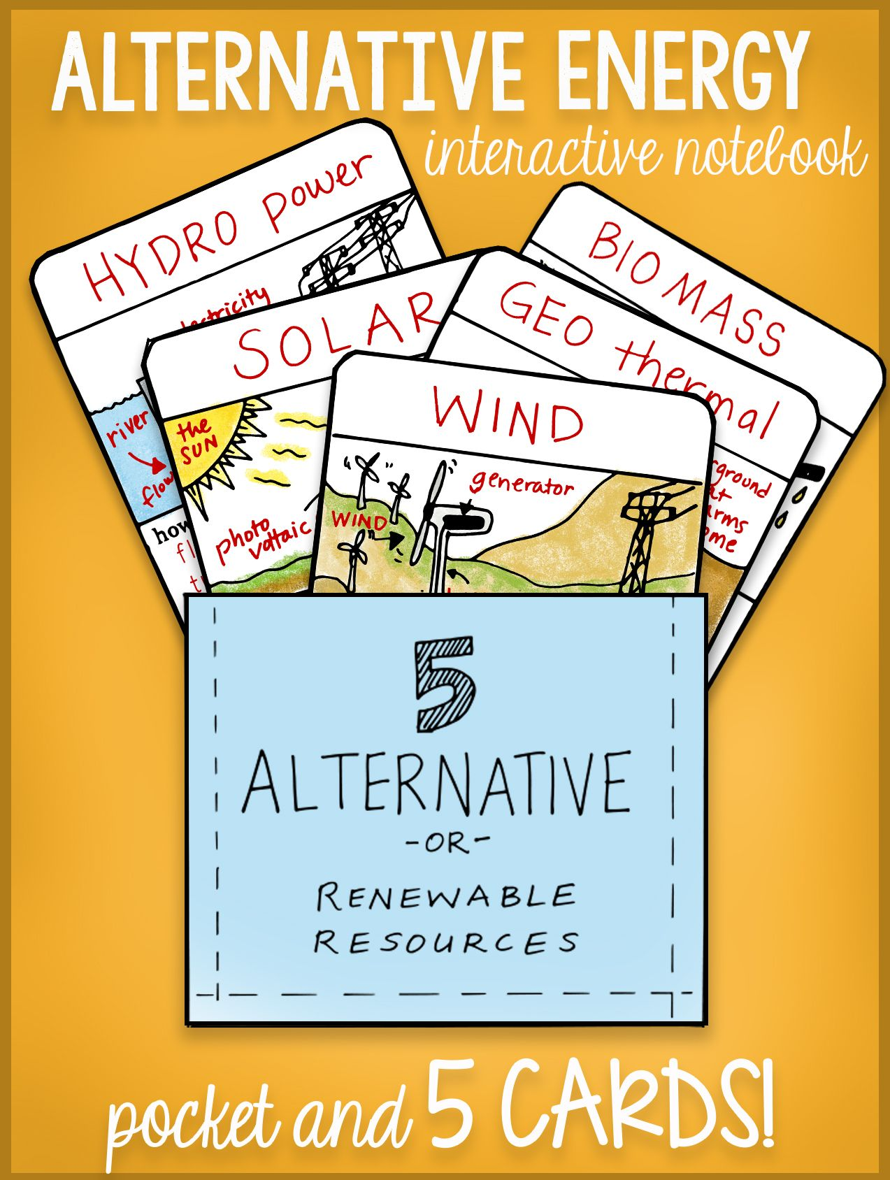 Alternative Energy Interactive Notebook Bundle By Science
