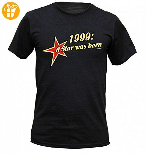 Birthday Shirt - 1999 A Star was born - Lustiges T-Shirt als Geschenk zum