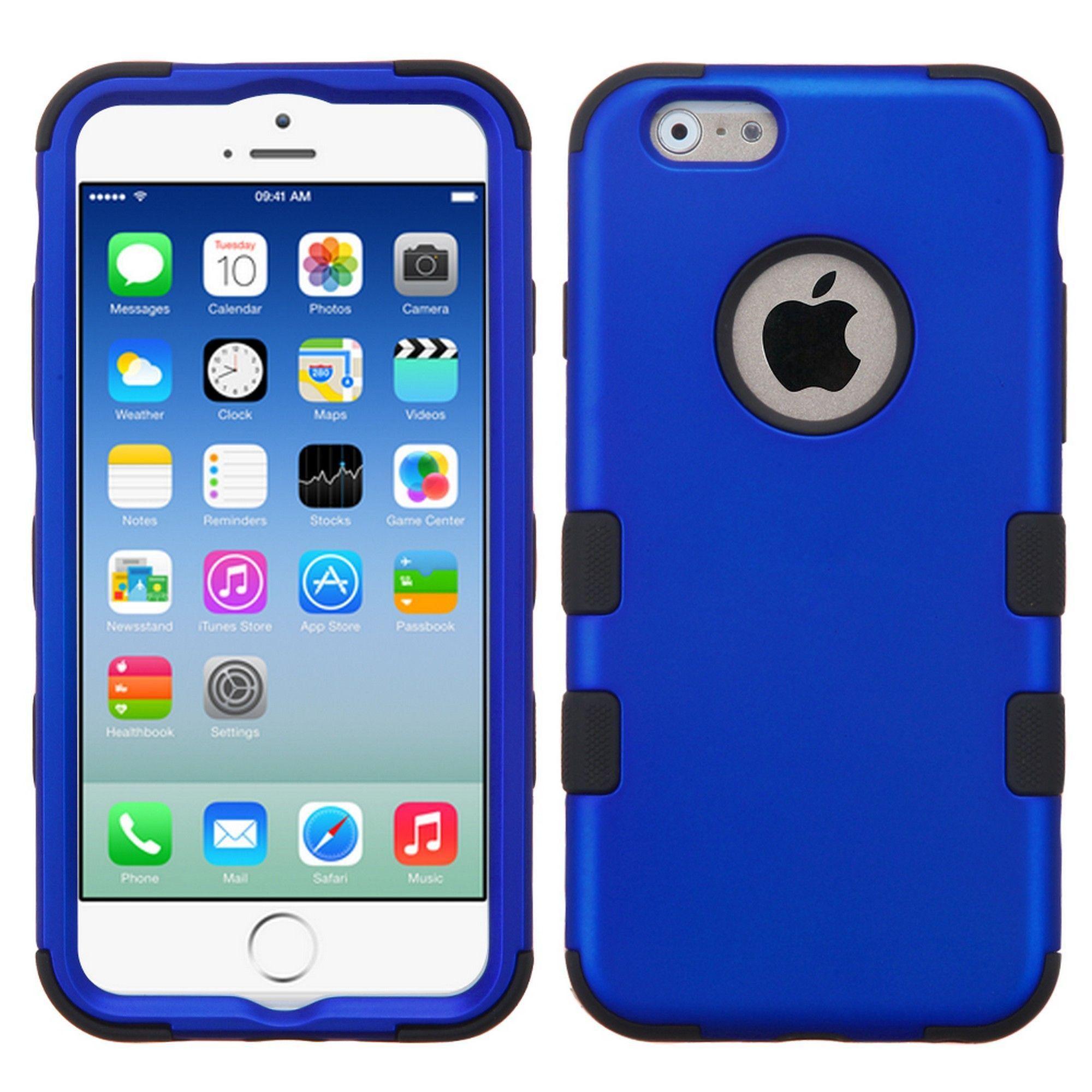 Mybat for apple iphone 66s blue black tuff hard silicone