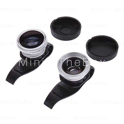 [EUR € 15.63]  - 3-in-een 180 ° Fish Eye lens en groothoek met 0,67 x Macro Clip Lens voor de iPhone 5 en anderen