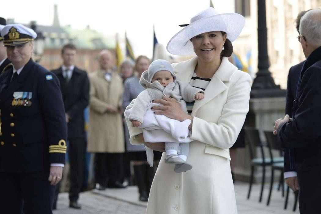 Kronprinsessan Victoria och prins Oscar 2016-04-30