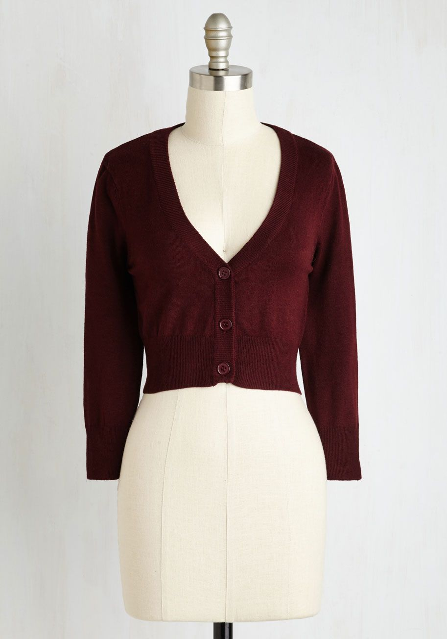 The Dream of the Crop Cardigan in Burgundy. Looking for a stylish ...
